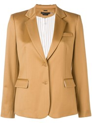 Alice Olivia Tailored Blazer Jacket Brown