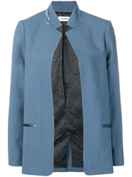 Zadig And Voltaire Open Front Blazer Blue