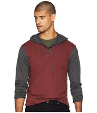 Rvca Pick Up Hooded Knit Bordeaux Clothing Burgundy