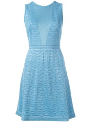 M Missoni Flared Dress Blue