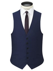 Richard James Mayfair Wool Flannel Slim Fit Waistcoat Navy