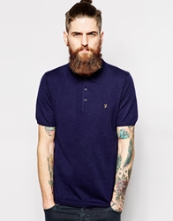 Farah Vintage Knitted Polo With F Logo Truenavy