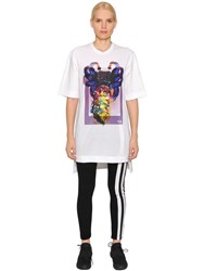 Y 3 Alien Print Cotton Jersey T Shirt Dress