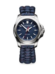 Victorinox I.N.O.X. Paracord Bracelet Analog Watch Blue