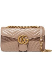 Gucci Gg Marmont Small Quilted Leather Shoulder Bag Beige