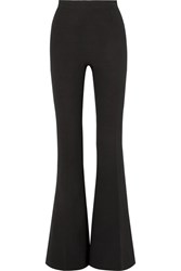Safiyaa Crepe Flared Pants Black