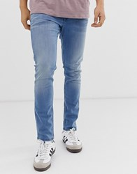 Tom Tailor Skinny Fit Jeans In Light Blue Stone Wash