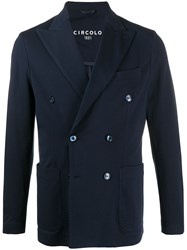 Circolo 1901 Double Breasted Textured Blazer 60