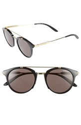 Carrera Women's 126 49Mm Sunglasses Shiny Black Gold