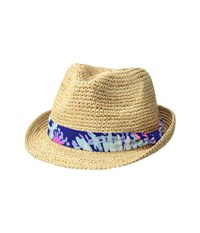 Lilly Pulitzer Poolside Hat Natural Fedora Hats Beige