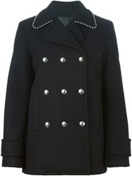 Alexander Wang Press Stud Fastened Coat Black