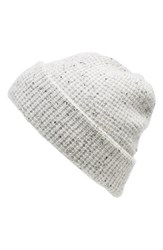 Women's Madewell Waffle Knit Cashmere Hat White Donegal Cloud