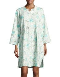 Miss Elaine Floral Diamond Sleep Gown Blue Roses
