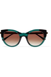 Thierry Lasry Joyridy Cat Eye Frame Acetate And Metal Sunglasses Emerald