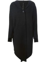 Barbara I Gongini Hooded Long Jacket Black