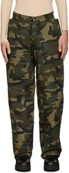 Hood By Air Green Camo Uniform Sag Trousers