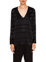 Ted Baker Says Relax Genina V Neck Woven Top Black