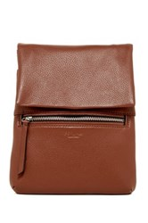 Perlina Ellena Leather Crossbody Brown