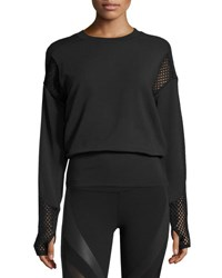 Alo Yoga Formation Long Sleeve Top Black