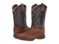 Laredo Great Bend Rust Navy Cowboy Boots Tan