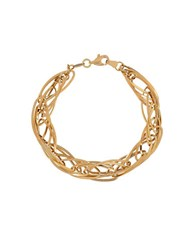 Lord And Taylor 14K Yellow Gold Quadruple Interlock Bracelet