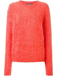 House Of Holland Ribbed Oversized Jumper Yellow And Orange