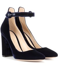 Gianvito Rossi Exclusive To Mytheresa.Com Greta Velvet Pumps Blue