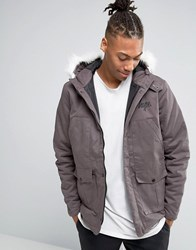 Hype Parka With Faux Fur Hood Black