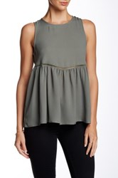 Harlowe And Graham Sleeveless Woven Blouse Green