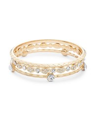 Panacea Rhinestone Bangle Set Gold