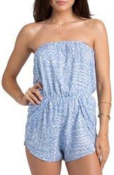 Women's Billabong 'Keep It Cool' Print Strapless Romper