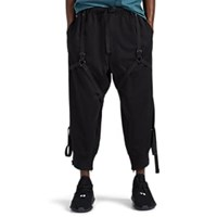Y 3 Cotton French Terry Utility Pants Black