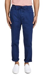 Alex Mill Pull On Button Fly Pants Navy