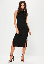 Missguided Tall Exclusive Black Sleeveless Side Split Dress