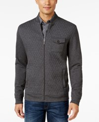 Tasso Elba Men's Big And Tall Classic Fit Quilted Full Zip Jacket Only At Macy's Charcoal Heather