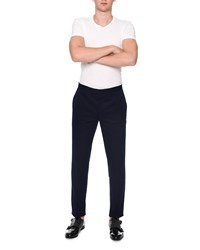 Alexander Mcqueen Slim Fit Cotton Trousers Navy