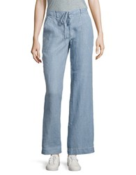 Tommy Bahama Woven Sea Glass Pigment Printed Linen Pants Blue