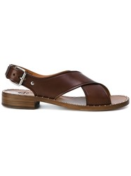 Church's Crossed Straps Sandals Brown