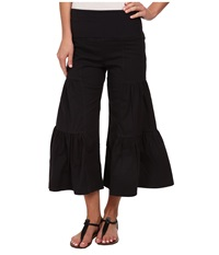 Xcvi Cropped Side Tier Palazzo Black Women's Casual Pants
