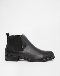 Rock And Religion Leather Chelsea Boots Black