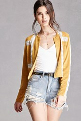 Forever 21 Goldie London Faux Suede Jacket Mustard