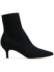Gianvito Rossi Pointed Ankle Boots Black