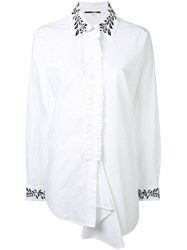 Mcq By Alexander Mcqueen Ruffle Tunic Shirt Women Cotton 40 White