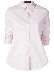 Steffen Schraut Gathered Three Quarters Sleeve Shirt Pink Purple