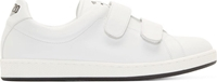 Kenzo White Leather Velcro Sneakers