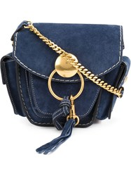 Chloe Cargo Shoulder Bag Blue
