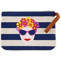 Atozgreek Summer Clutch Woman With Flowers