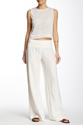 Green Dragon Rollover Linen Pant Beige