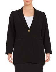 Calvin Klein Plus Long Blazer Black