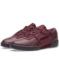 Reebok Workout Low Clean Bs Burgundy